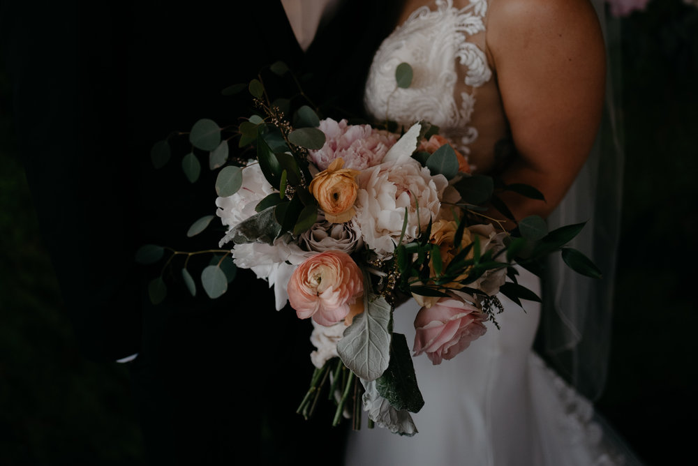 Bride's bouquet at Moss Denver wedding