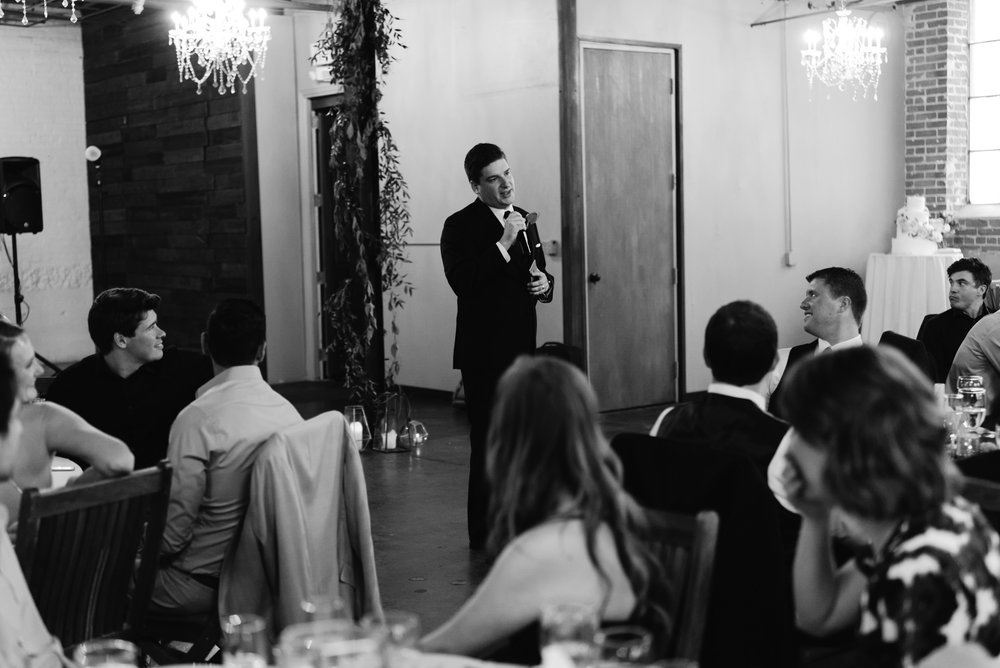 Denver Moss wedding. Best man toasts. Colorado wedding photographer.