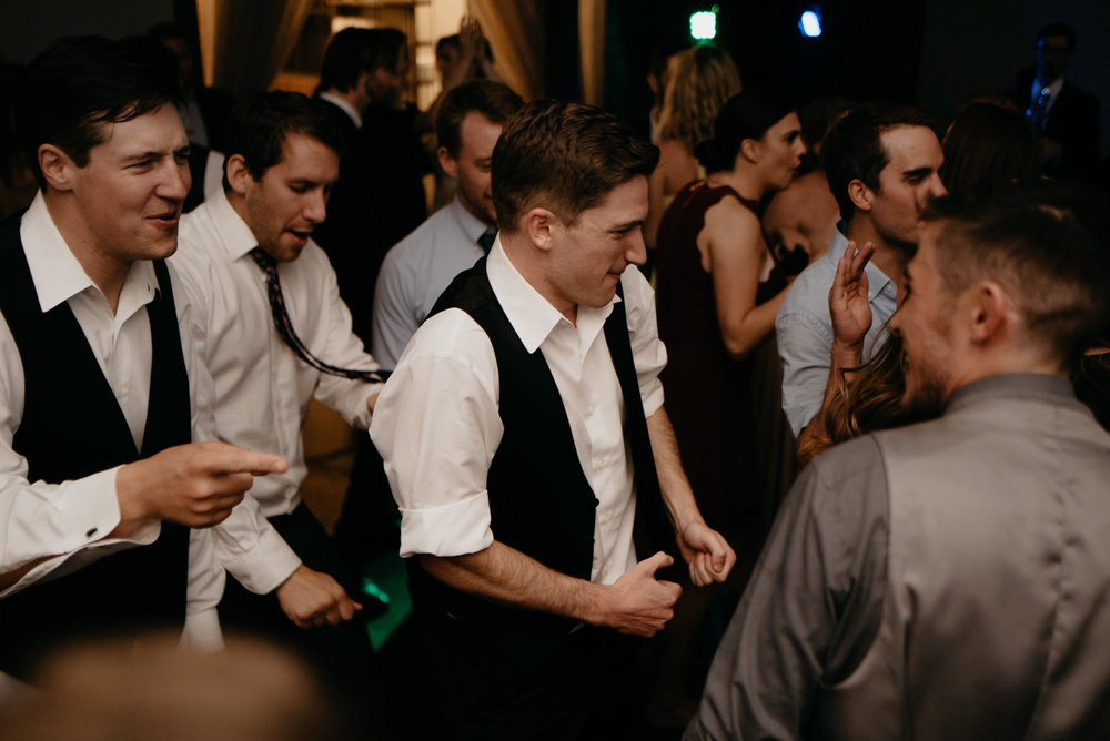 Dancing at Moss Denver wedding. Colorado wedding and elopement photography