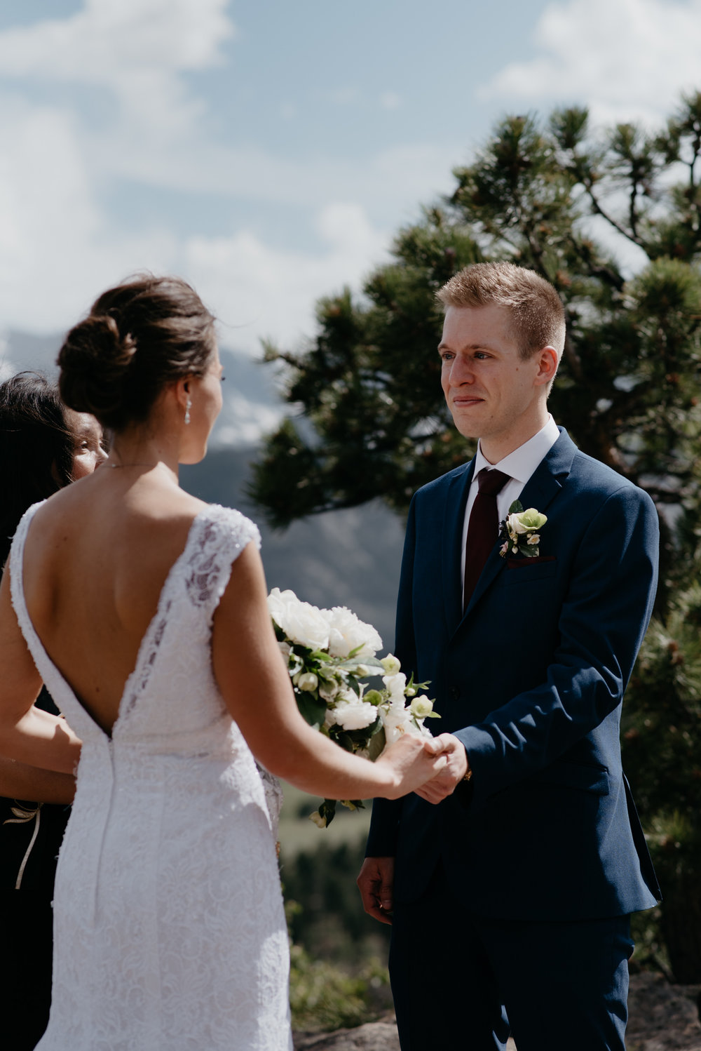 3M Curve wedding ceremony, Rocky Mountain National Park elopement. Colorado wedding photographer.