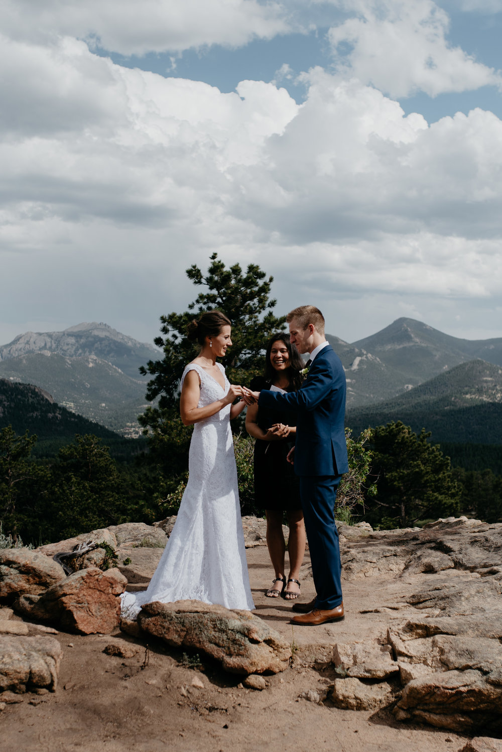 Colorado destination elopement in Rocky Mountain National Park.