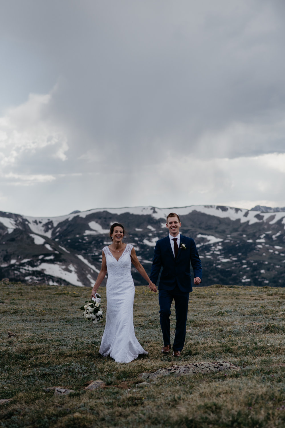 Rocky Mountain National Park adventure elopement at Trail Ridge Road. Colorado elopement photographer.