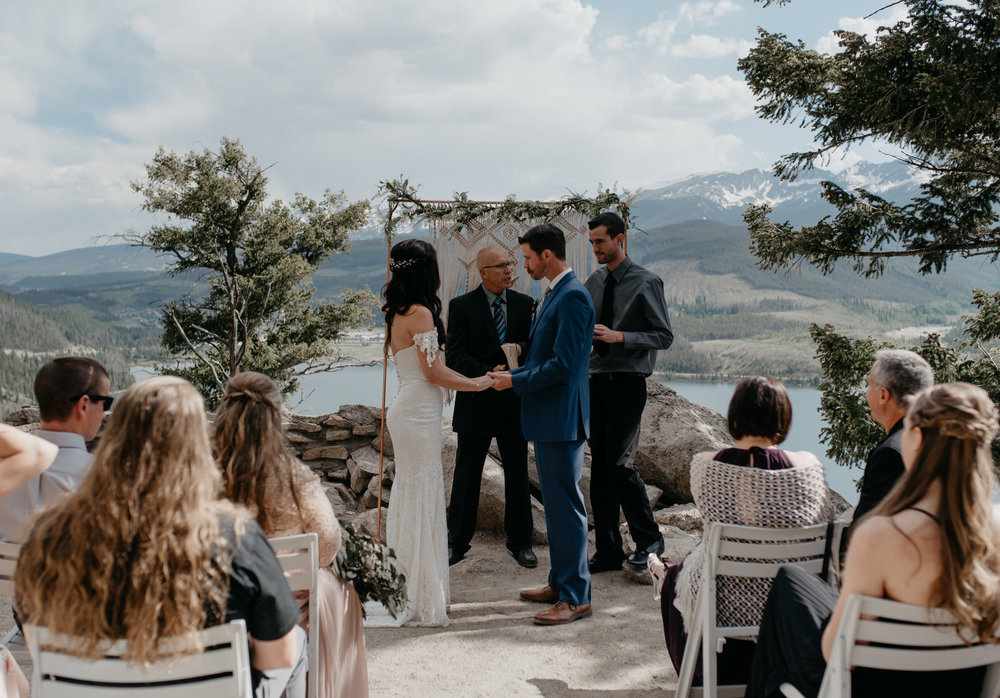 Sapphire Point wedding in Colorado. Breckenridge elopement and wedding photographer.