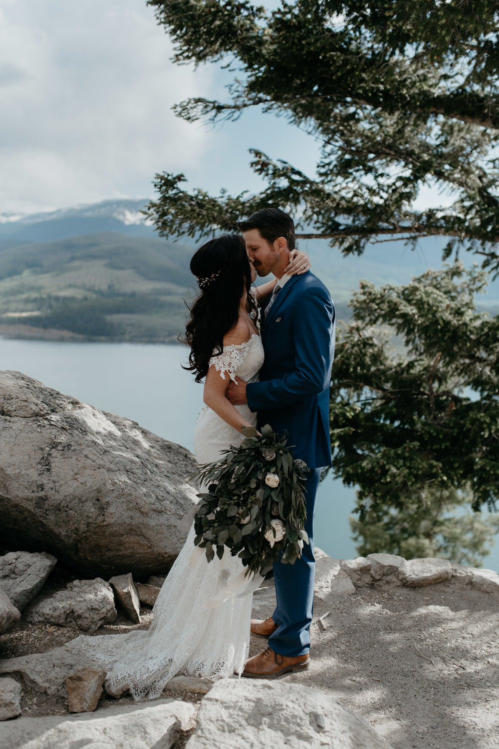 Colorado mountain elopement and wedding photographer. Destination wedding in Breckenridge, Colorado.