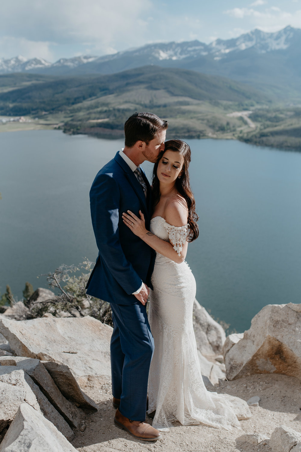 Colorado destination mountain elopement. Colorado wedding photographer.
