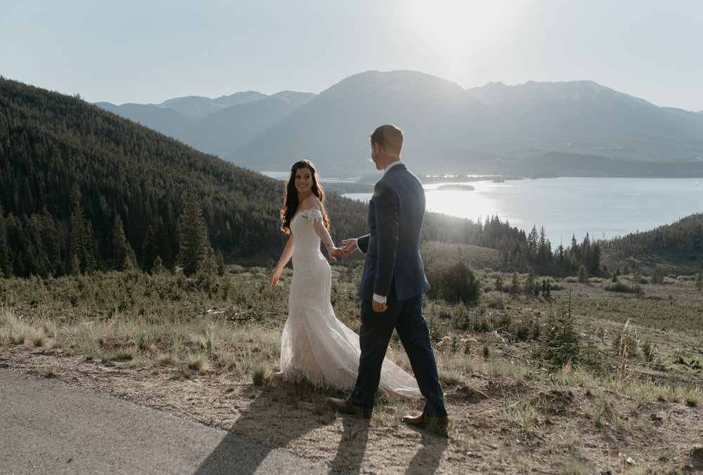 Sapphire Point elopement photos. Colorado elopement and wedding photographer.