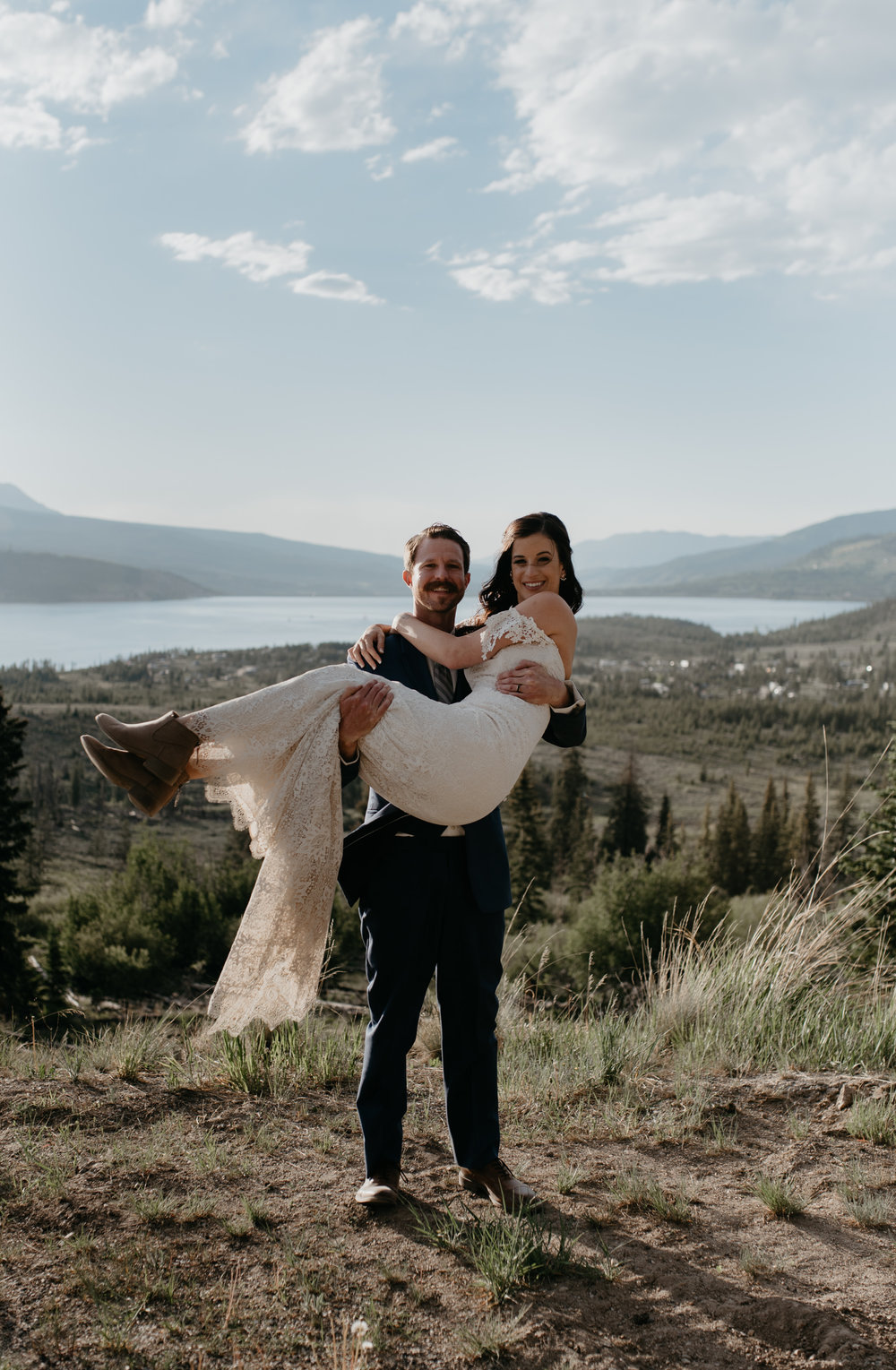 Sapphire Point elopement photography in Colorado.