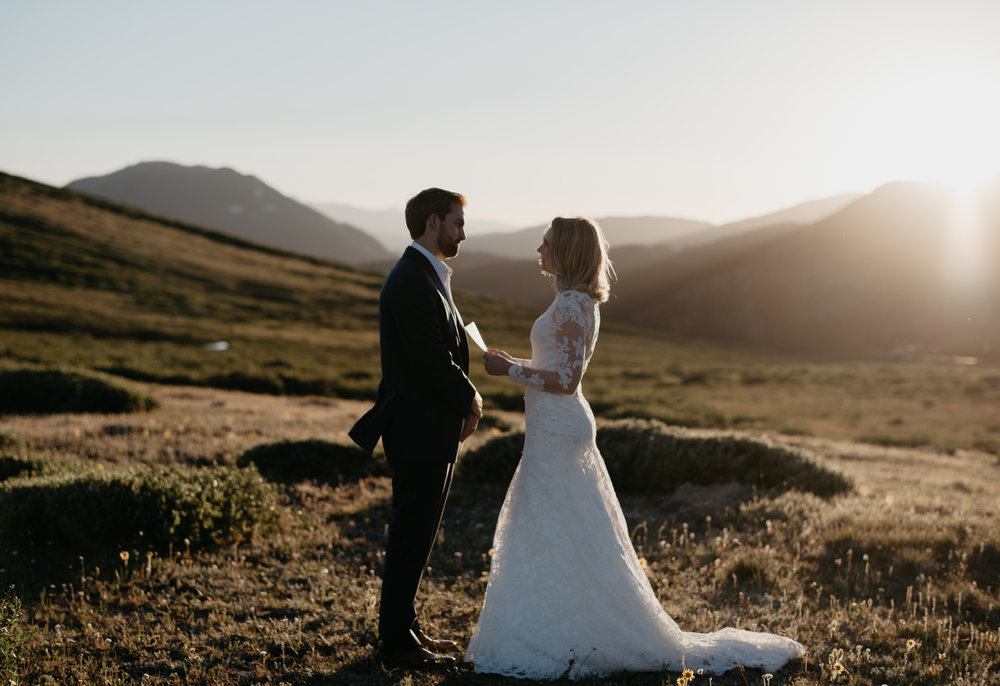 Independence Pass Ghost Town elopement. Aspen wedding photographer.