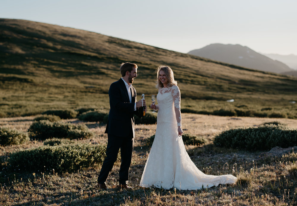 Aspen, Colorado wedding photographer. Intimate elopement at Independence Pass in Aspen, CO.