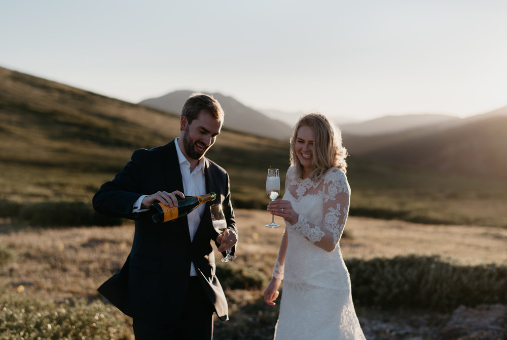 Aspen, Colorado elopement at Independence Pass. Colorado wedding photographer.