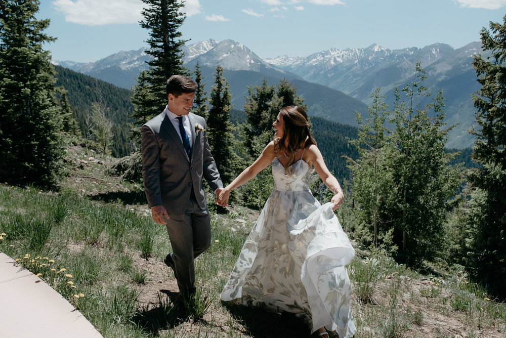 Colorado elopement and wedding photographer. Aspen wedding at The Little Nell.