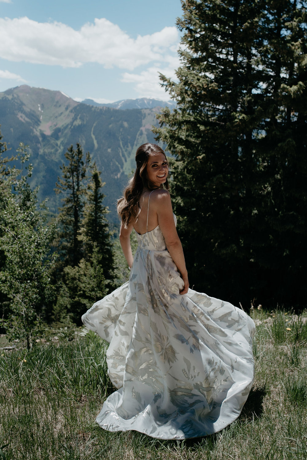 Photos of bride at Aspen wedding. The Little Nell wedding photographer.