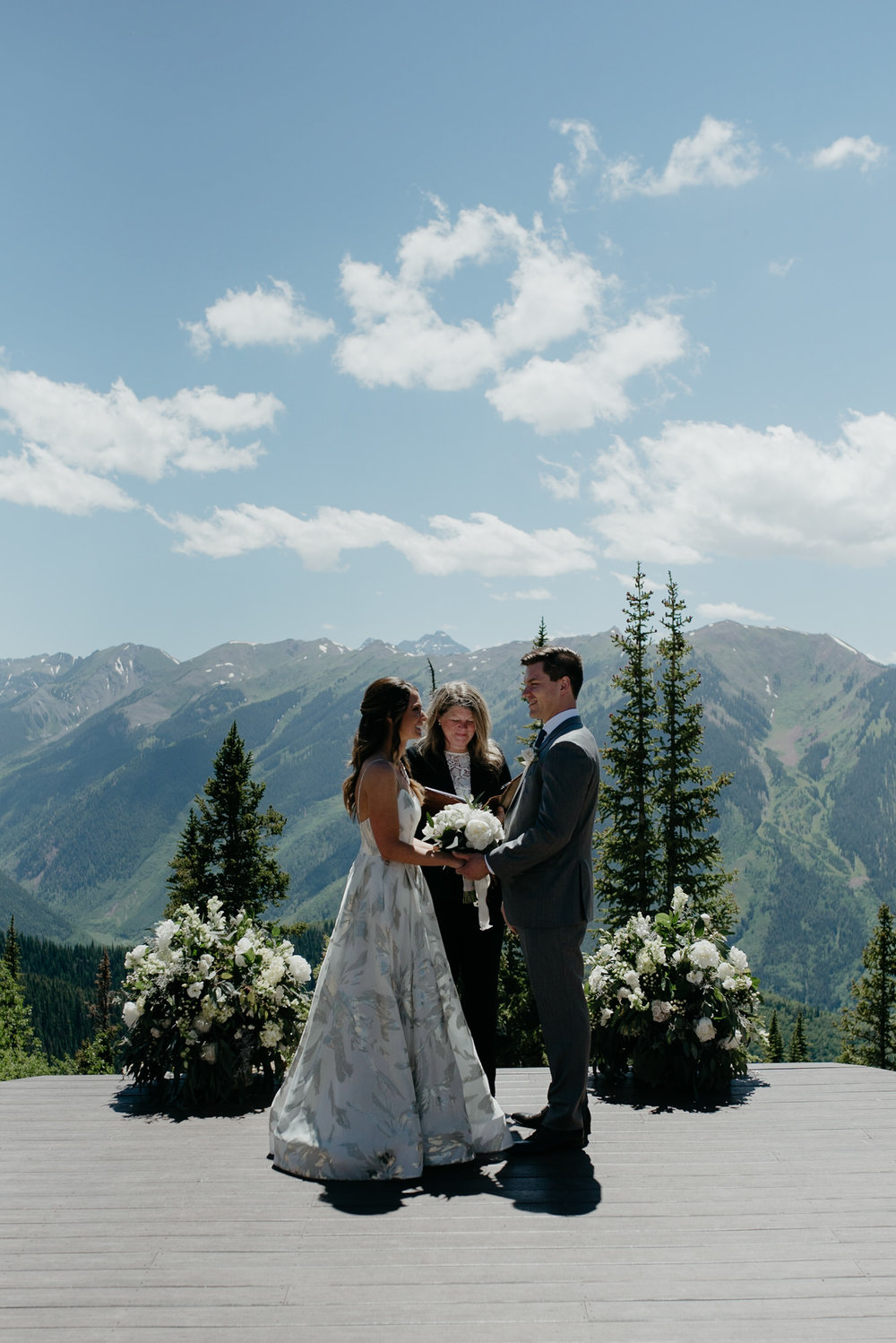Ceremony at The Little Nell. Aspen, Colorado mountain wedding venue.