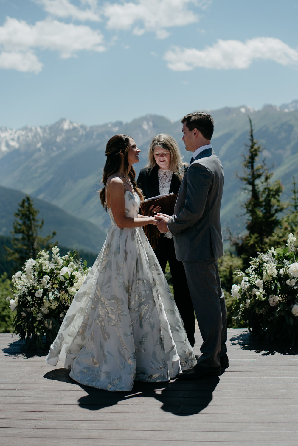 Colorado wedding photographer. Ceremony at The Little Nell.