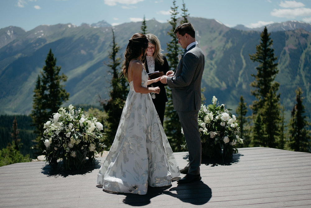 Colorado mountain wedding inspiration in Aspen, Co.
