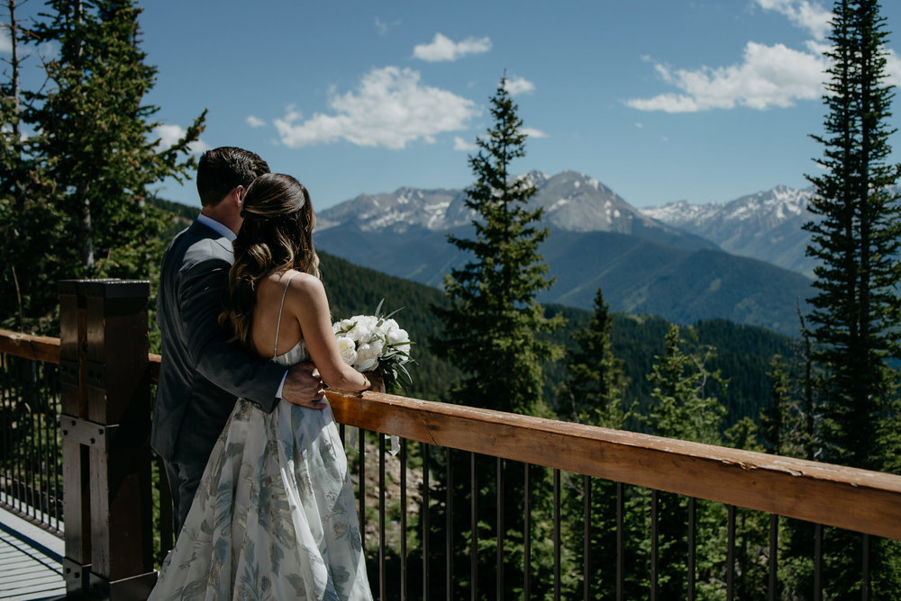 Aspen wedding venue, The Little Nell. Colorado mountain elopement and wedding photographer.