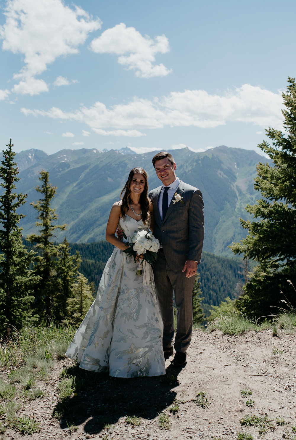 Colorado mountain wedding venue in Aspen, Colorado. The Little Nell wedding and elopement photographer.
