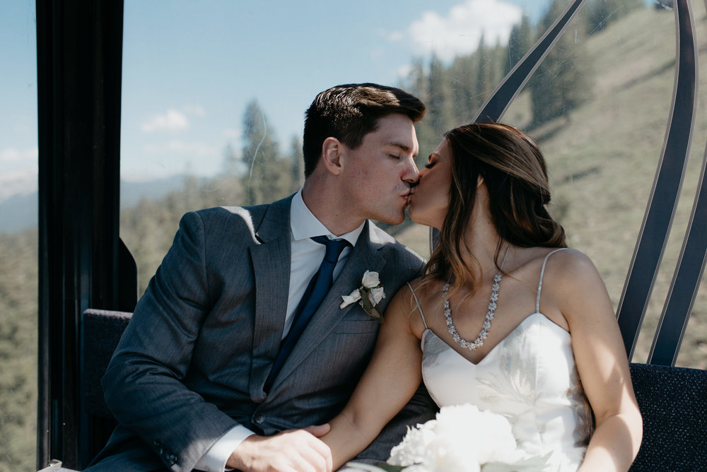 Colorado adventure elopement and wedding photographer. Intimate mountain wedding at The Little Nell in Aspen, Colorado.
