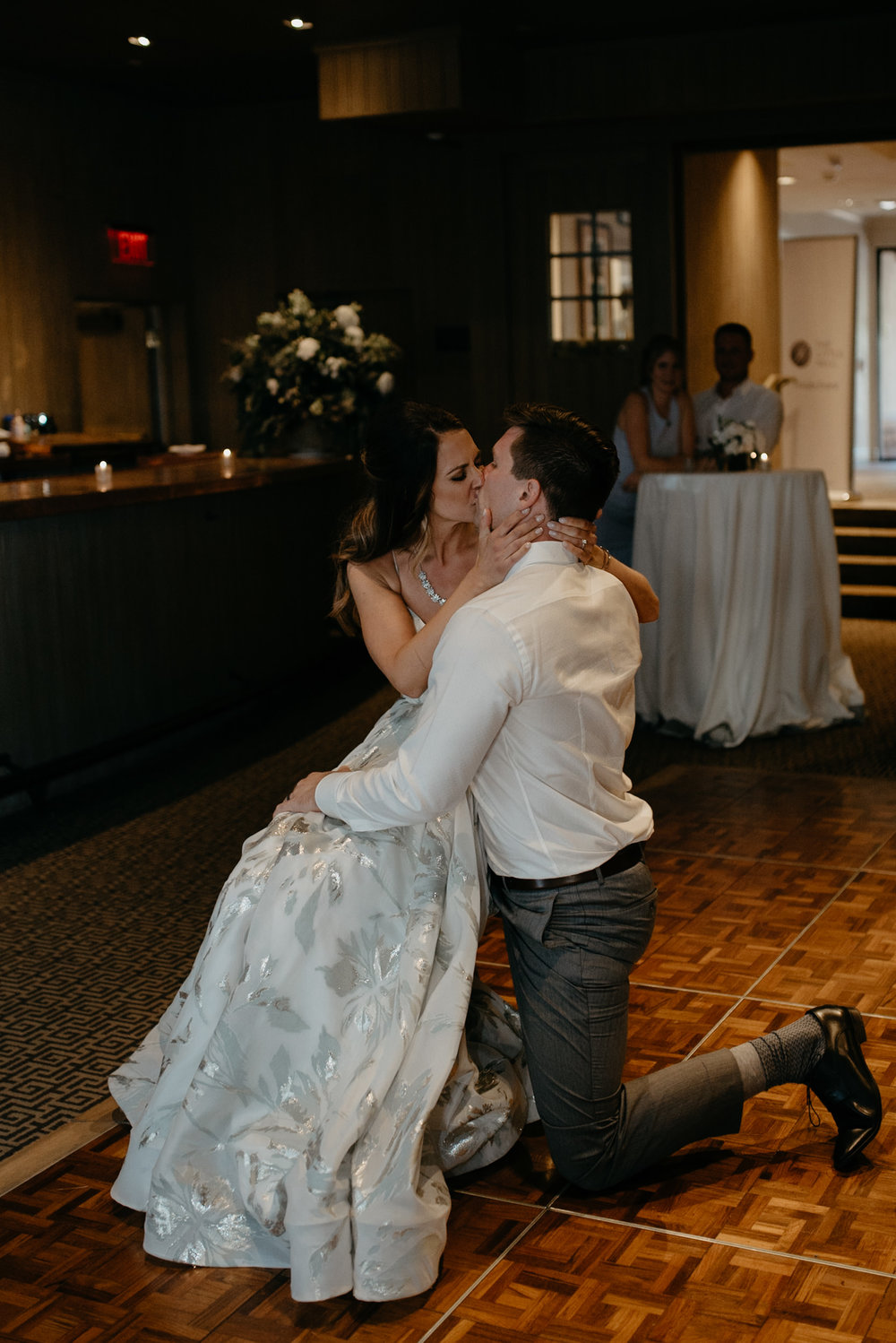 Aspen elopement photographer. Bride and groom first dance.