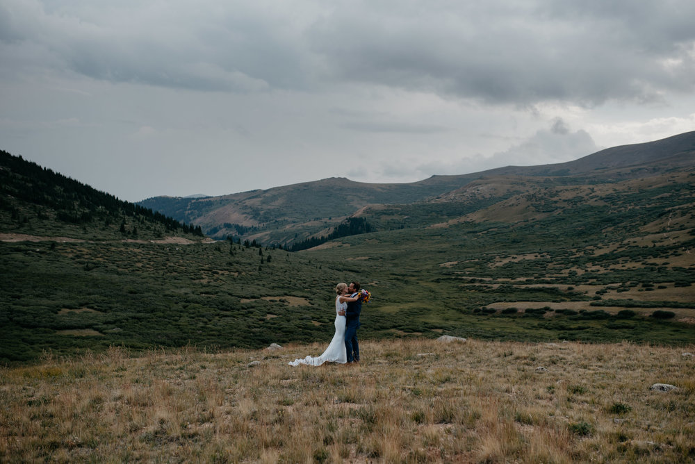 Guanella Pass elopement in Georgetown, Colorado.