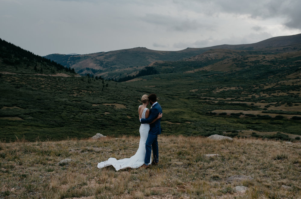 Elopement at Guanella Pass in Georgetown, Colorado.