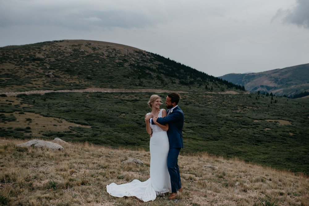 Guanella Pass in Colorado. Colorado intimate wedding photographer