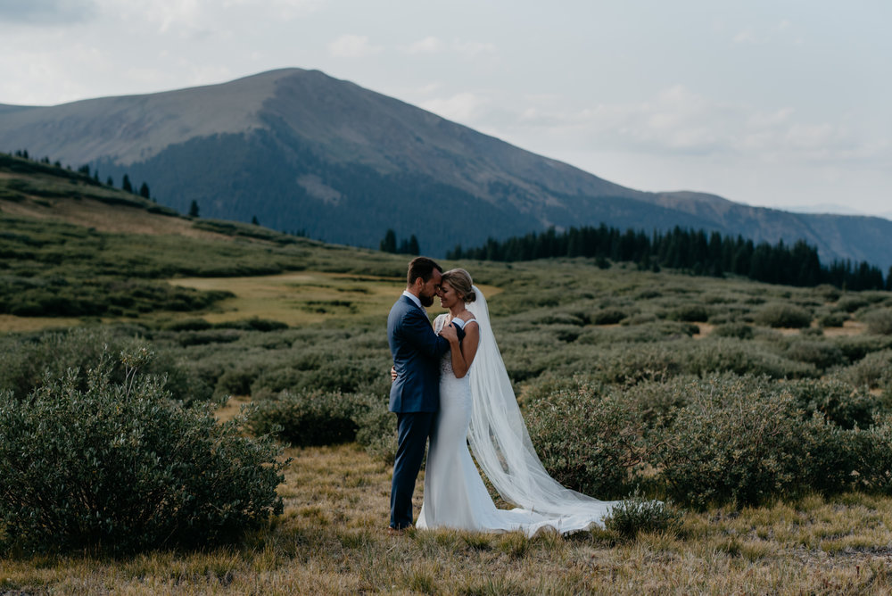 Colorado mountain wedding inspiration. Colorado elopement photographer.