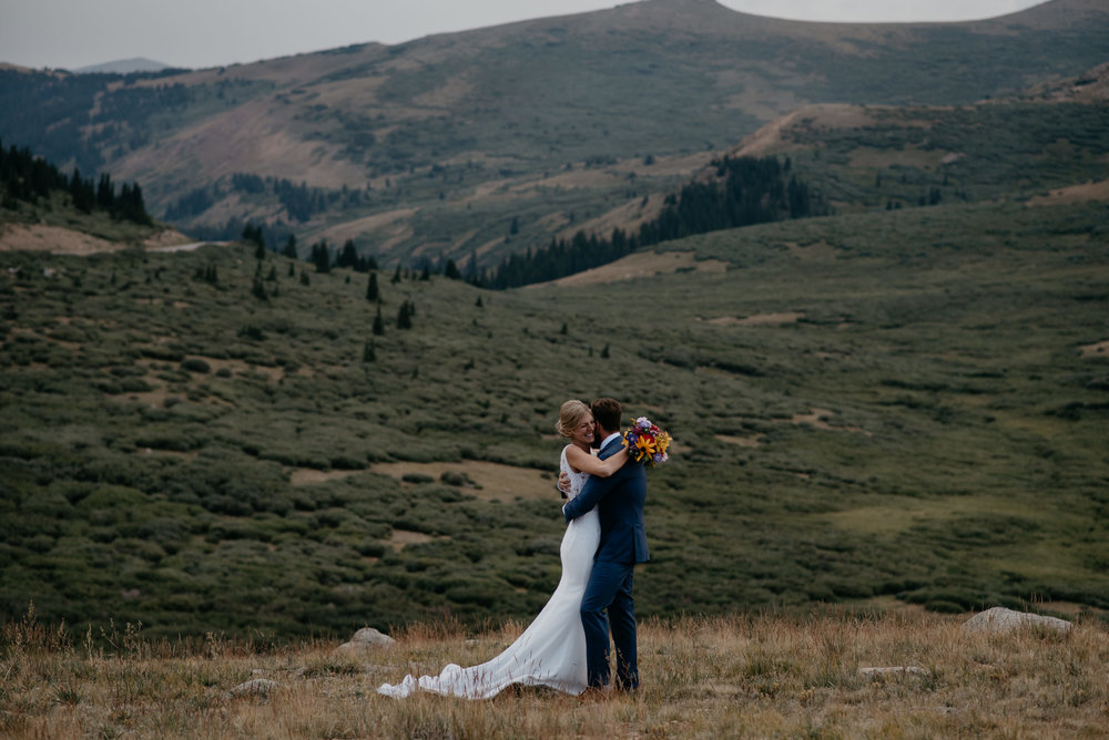 Colorado mountain elopement and wedding photography