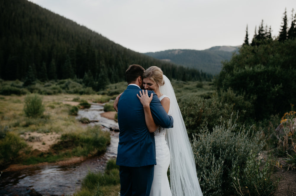 Colorado elopement photos at Guanella Pass.