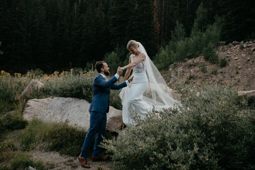 Colorado wedding photographer. Guanella Pass wedding.