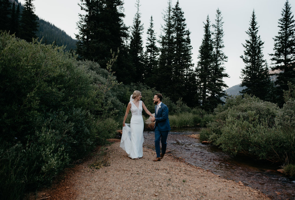 Intimate wedding photographer. Colorado elopement at Guanella Pass.