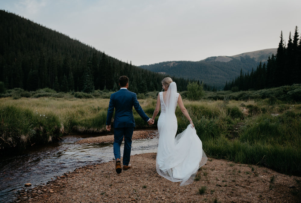 Colorado elopement and wedding photographer. Intimate shoot at Guanella Pass in Georgetown, Colorado.