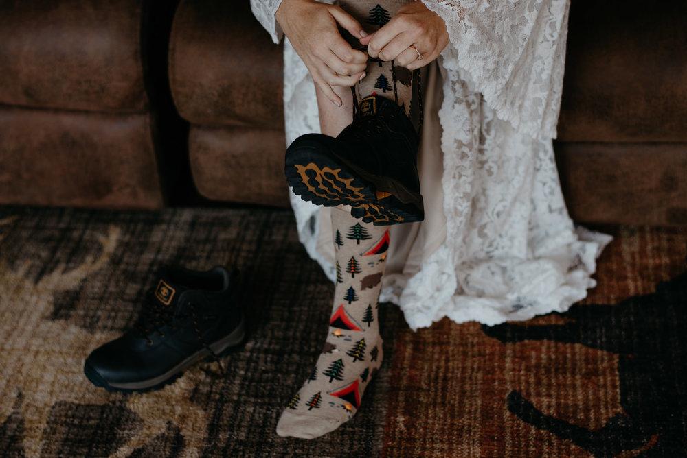 Adventure elopement shoe inspiration.