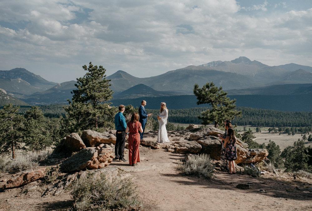 Colorado elopement photographer. Rocky Mountain National Park elopement.