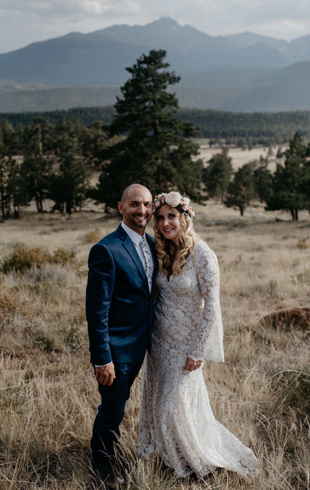 Colorado mountain elopement at 3m curve in Rocky Mountain National Park.