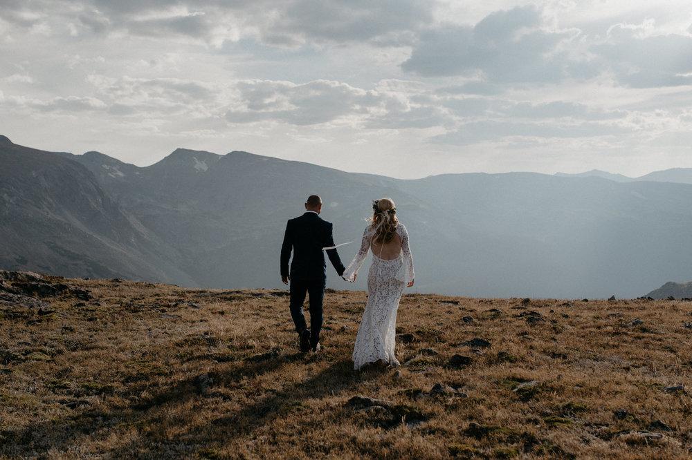 Alyssa Reinhold, Denver wedding photographer. Colorado elopement in Rocky Mountain National Park.