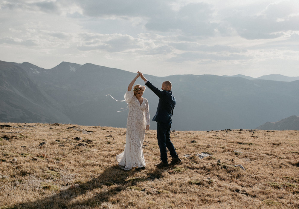 Colorado based adventure mountain elopement and wedding photographer.