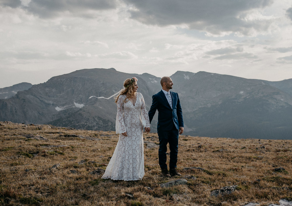 Trail Ridge Road adventure elopement.