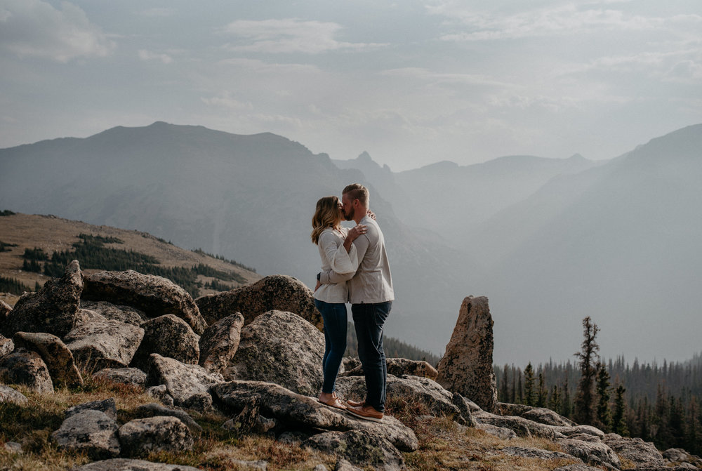 Trail Ridge Road adventure engagement session. Colorado based elopement and wedding photography.