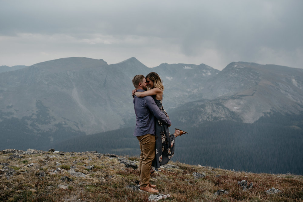 Alyssa Reinhold, Colorado wedding photographer. Mountaintop elopement photos in Colorado.