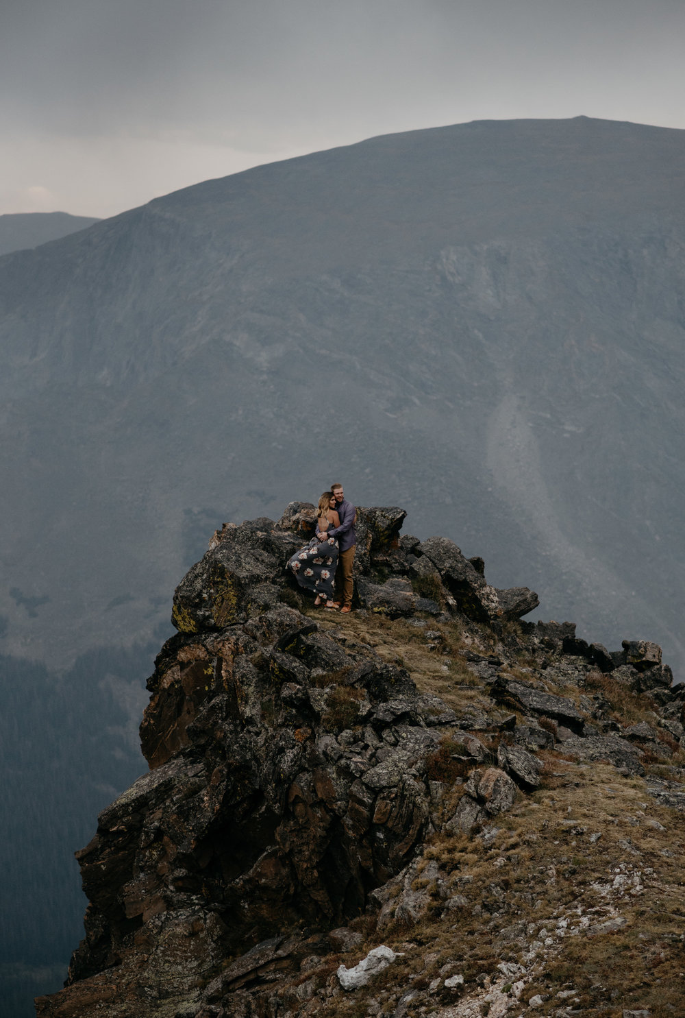 Adventure elopement in Rocky Mountain National Park on Trail Ridge Road. Colorado based mountain elopement an wedding photographer, Alyssa Reinhold.