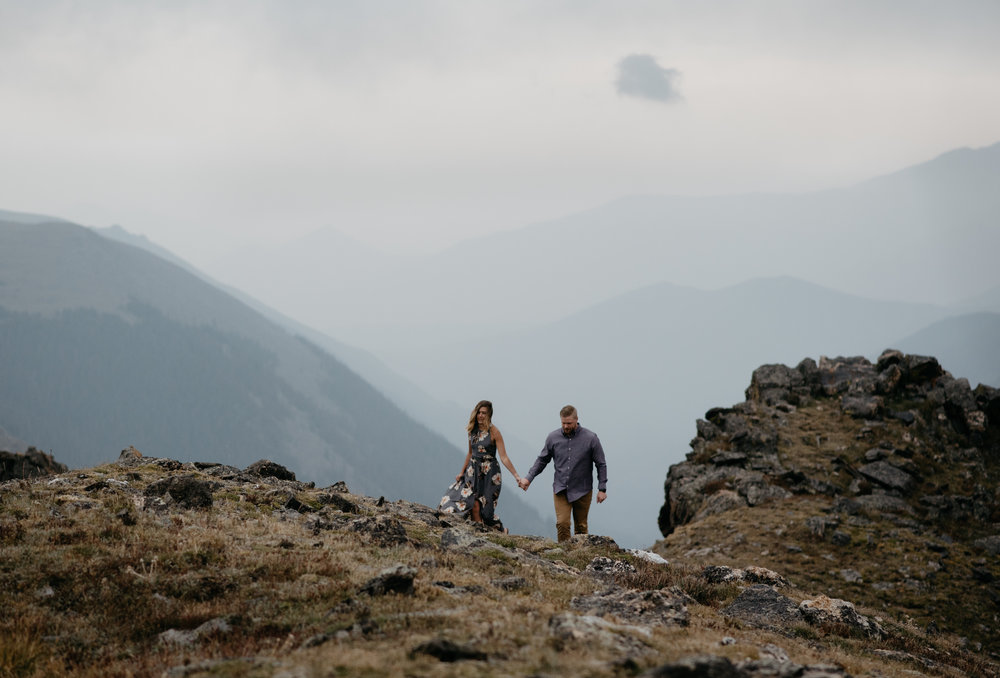 Rocky Mountain National Park adventure elopement photographer. Colorado wedding photographer.