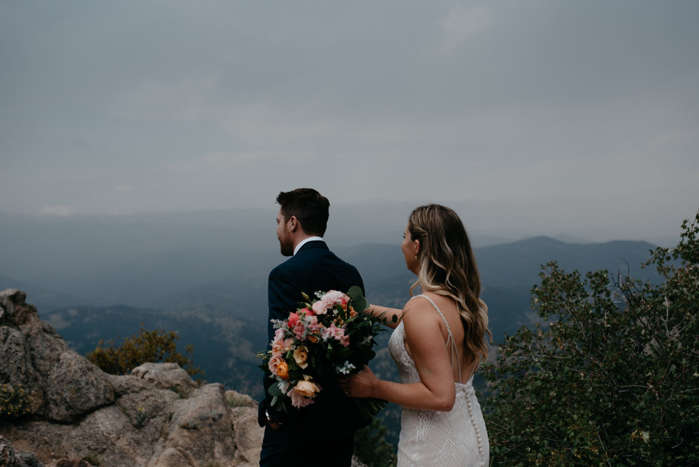 First look at Boulder elopement at Lost Gulch.