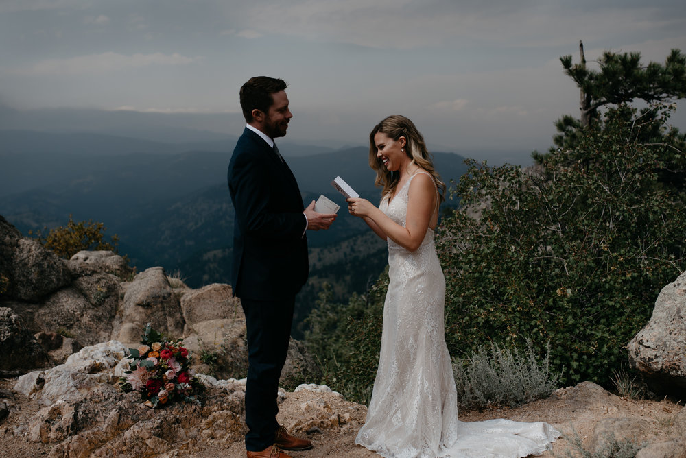 Lost Gulch elopement in Boulder. Boulder elopement and wedding photographer.