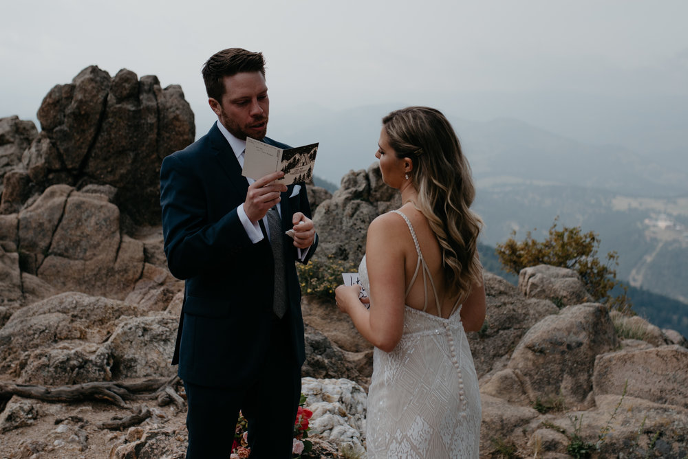 Boulder, Colorado elopement and wedding photographer. Elopement at Lost Gulch.