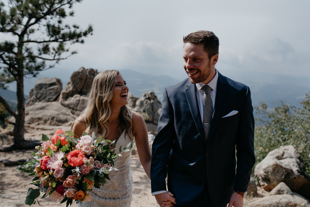 Lost Gulch elopement in Boulder, Colorado. Colorado wedding and elopement photography..