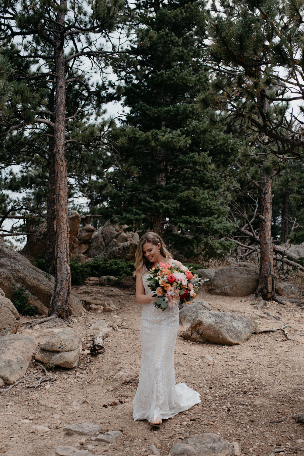 First look at Lost Gulch in Boulder. Colorado elopement and wedding photographer.