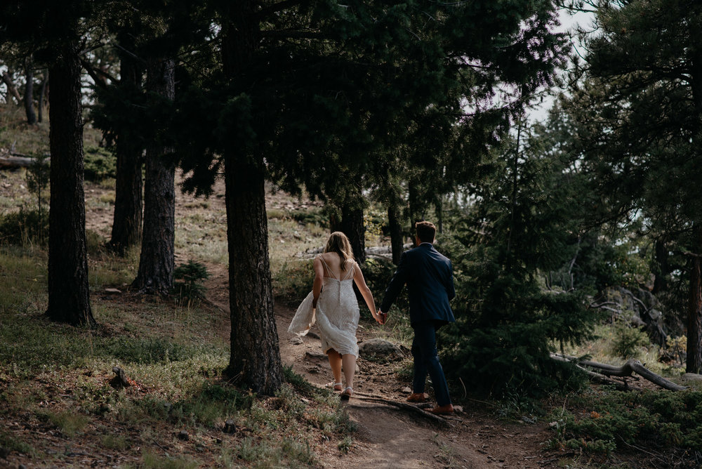 Boulder adventure elopement photographer. Colorado wedding at Lost Gulch.