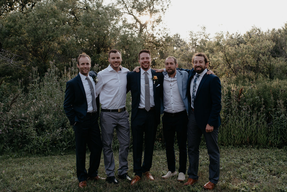 Groomsmen photos. Boulder, Colorado elopement photographer. Colorado wedding photography. Affordable Colorado wedding photographer.