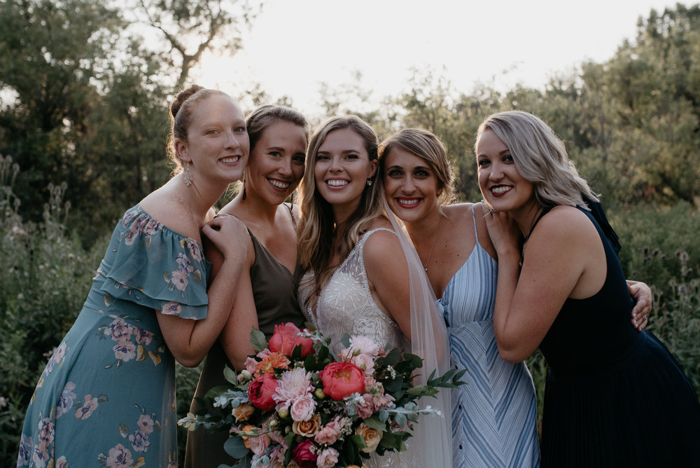 Bridesmaids at Boulder, Colorado wedding. Colorado wedding and elopement photographer.